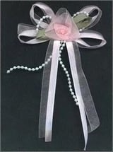 Ribbon Bows With Beads And Satin