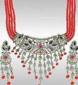 Sterling Silver Beaded Necklace Set