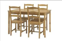Solid Pine Dinning Room Table Set