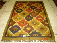 Woolen And Cotton Dhurries Rug