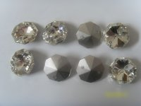 Crystal Octagon Pointed Back Beads
