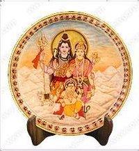 Marble Shankar Parvati Painting