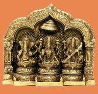 Ganesha Laxmi Saraswati Statue