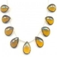 Whisky Topaz Beads