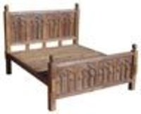 Wooden Gothic Bed