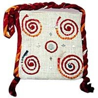 White Four Spiral Jute Bag in Rajkot