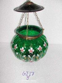 Glass Painted Melon Shape Lamps