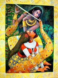 Krishna With Flute Painting