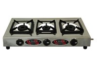 Biogas Three Burner Stove