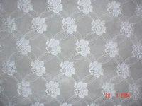 White Color Raschel Lace Fabrics