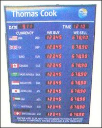 Led Forex Rate Board