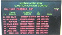 Railway Sign Board