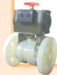 Pneumatic Actuator Operated Polypropylene Body 3 Piece Ball Valve