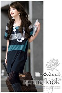Loose Short Sleeve Cotton Dress