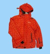 Orange With Yellow Print Hooded Jacket