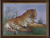 Tiger Gemstone Painting
