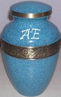 Avalon Evening Blue Brass Cremation Urn