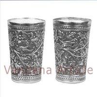 Elegant Silver Glasses