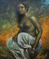 Oil Painting On Canvas (Nude)