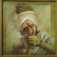 Oil Painting On Canvas (Sadhu)