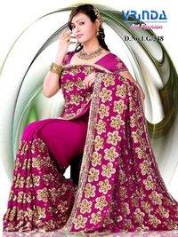 d2aa5ac0d3 Embroided Ethnic Sarees, Designer Saree , Embroided Silk Sarees, Designer  Saree