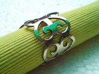 Heart Shiny Nickel Napkin Ring