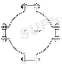 Heavy 4-Way Pole Bands