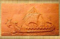 Terracotta Mural 'Ship' Tile