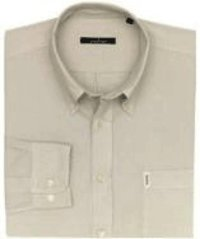 Beige Cotton Button Down Shirt