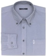Blue Grey Cotton Button Down Shirt