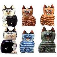 Handmade Papier Machie Cats