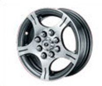12-Inch, Black Machined Alloy Wheels