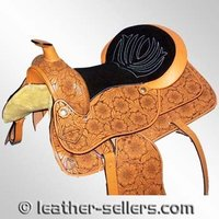 Laser Embossed Western Saddle