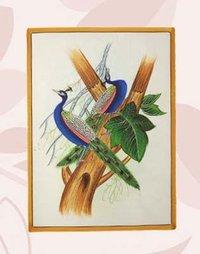 Gemstones Silk Canvas Paintings