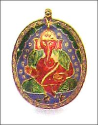 Gold Enameled Pendants