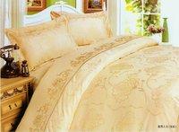 100% cotton satin jacquard bedding set