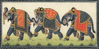 Silk Painting 3 Elephant Medium