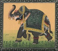 Silk Painting Elephant