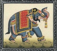 Silk Painting Elephant Simple