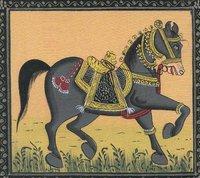 Silk Painting Horse