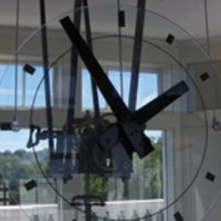 Indoor Glass Clock