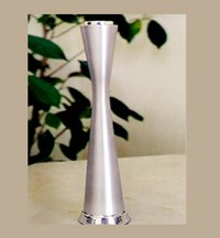 Satin Finished Aluminum Candle Stand
