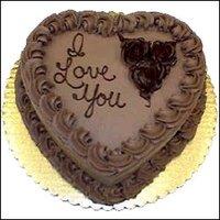 HEART SHAPE HALF KG CHOCOLATE CAKE