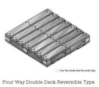 Four Way Double Deck Reversible Type Pallets