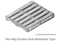 Two Way Double Deck Reversible Type Pallets