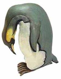 Painted Penguin Sculpture