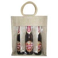 Jute Six Bottle Wine Bags