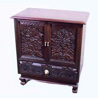 Carved Cabinet With Drawer