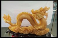 Feng Shui Jade Dragon Carving