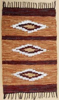 Leather Flat Weave Rugs